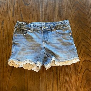 3/$15 Cat and Jack jean shorts with white trim med